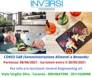CORSO SAB (Somministrazione Alimenti e Bevande)
